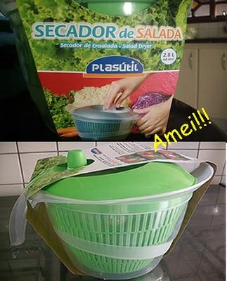 Secador de Salada, muito prático e funcional. Amei!!!!