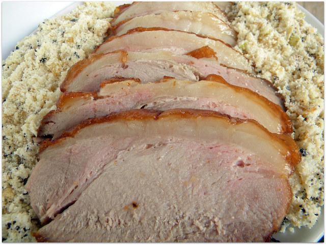 receita de pernil de porco com farofa