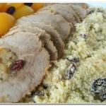 Carne Festiva com Farofa de Frutas