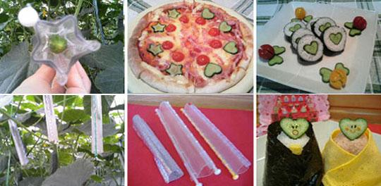 pepinos3 Frutas e legumes em formatos inusitados