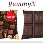 Almofada com cheiro de chocolate