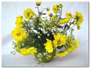 Arranjo de flor para um jantar romântico