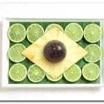 Brasil - Folha de bananeira, limão, abacaxi, maracujá