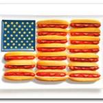 Estados Unidos - Cachorro quente, ketchup, mostarda e queijo