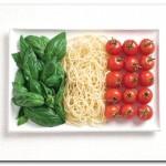 ITÁLIA - manjericão, macarrão, tomate