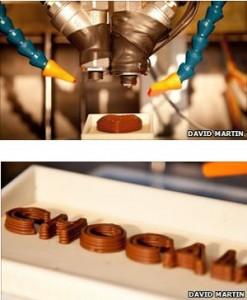 Que tal imprimir chocolate?