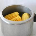 Milho cverde cozido na panela de pressão (4)