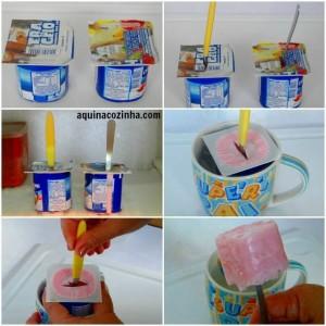 Dica de Iogurte Congelado ou Picolé de Iogurte