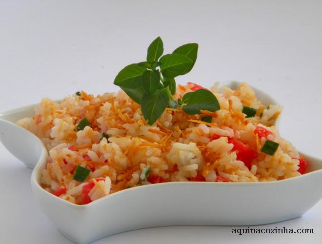 receita de arroz de festa com coco