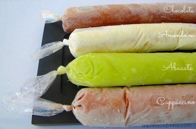 Receita de geladinho, sacolé, chup chup, gelinho ou flau