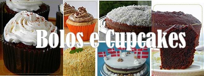 Receita de bolos e cupcakes