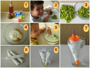 Picolé de Iogurte com kiwi