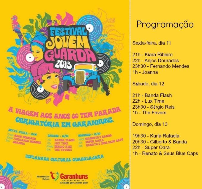 Programação do Festival da Jovem Guarda