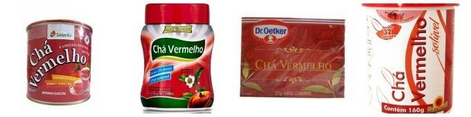 chá vermelho, chá verde e o chá branco