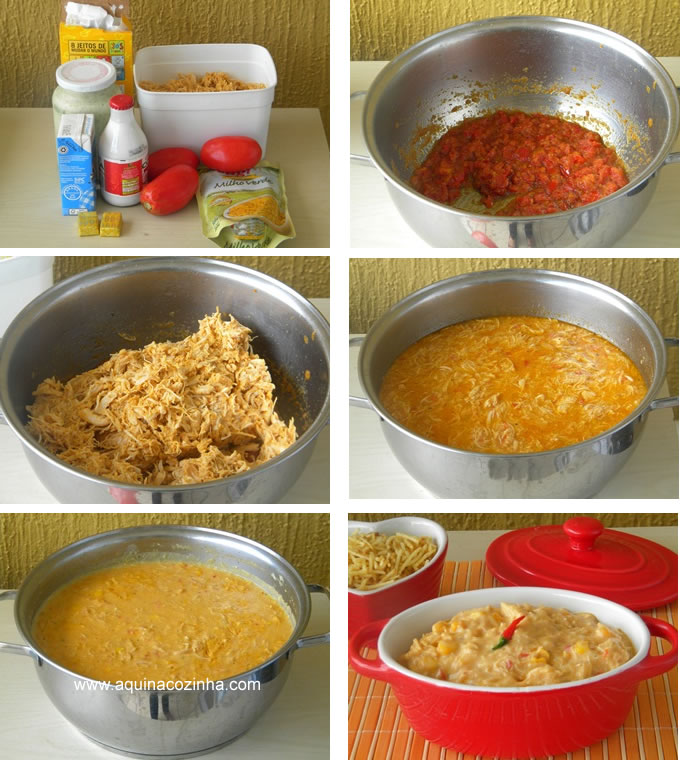 receita de creme de galinha