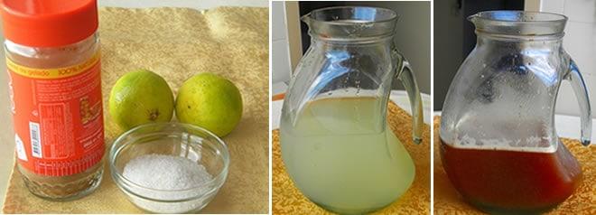 Mate gelado com limão