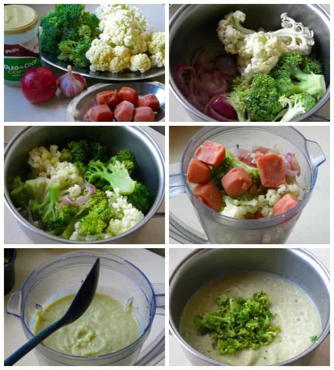 Panela com legumes e verduras para fazer uma sopa
