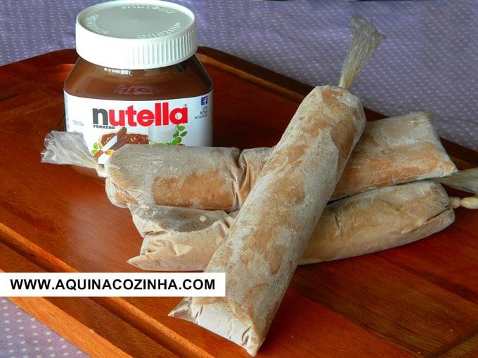 Geladinho de Nutella