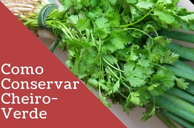 Como Conservar Cheiro-Verde (e ter sempre erva fresca)