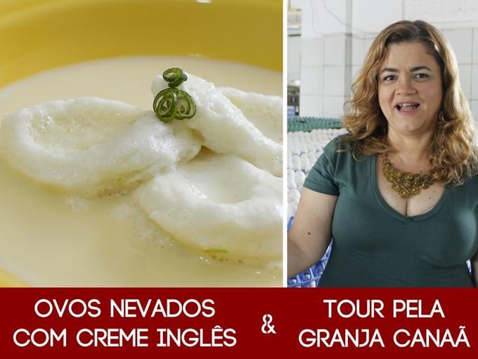 Ovos Nevados com Creme Inglês